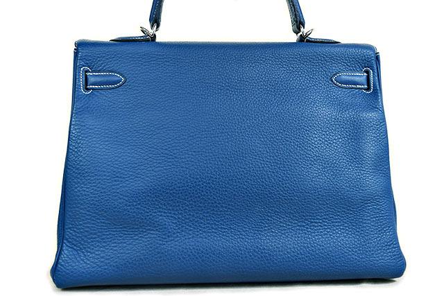 wholesale dealer be23e 8be15 売切】エルメス ケリー35 ブルータラサ色のお洒落なバッグ ...
