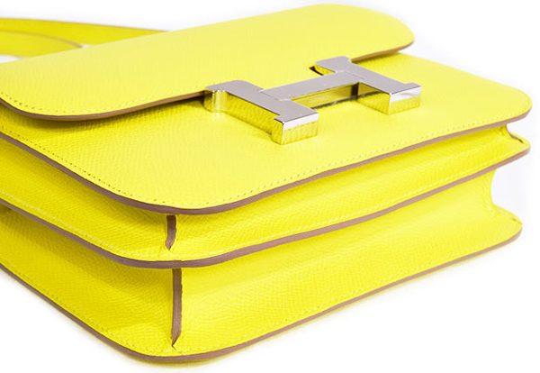 エルメス コンスタンスミニ3 エプソン 黄色