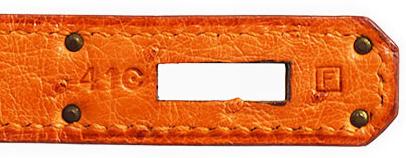 ケリー32 オレンジ オーストリッチ