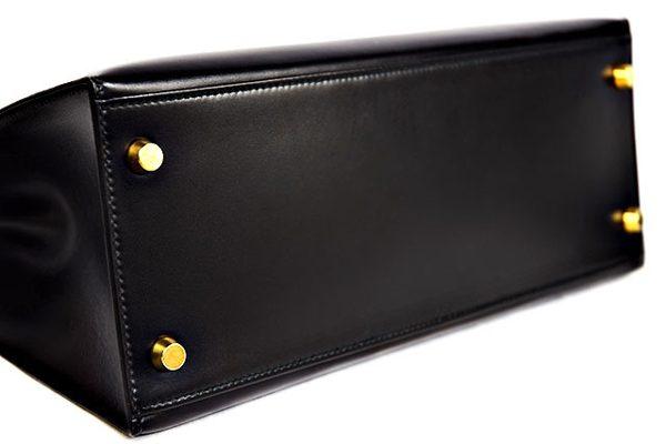ケリー28 黒 ボックスカーフ