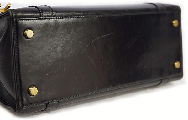エルメス ドラッグ30 ボックスカーフ 黒