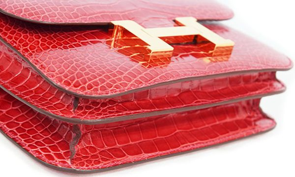エルメス コンスタンスミニ3 赤のアリゲーター