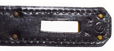 エルメス ケリー28 黒 ボックスカーフ