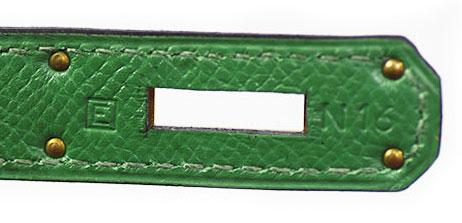 エルメス ケリー28 緑色 クシュベル