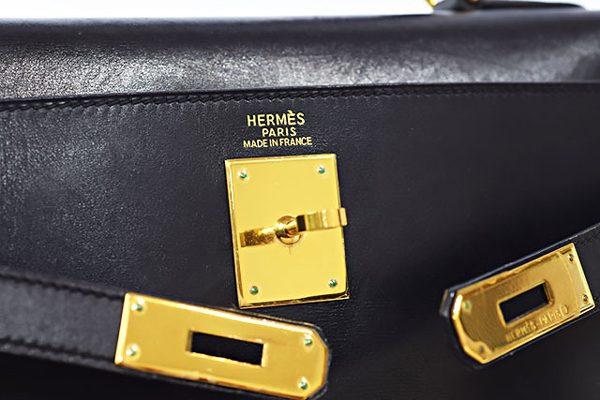 エルメス ケリー32 内縫い 黒