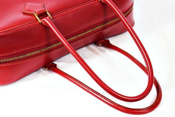 エルメス プリュム32 赤 ボックスカーフ
