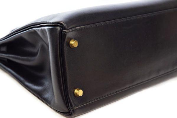 エルメス ケリー32 黒 内縫い ボックスカーフ