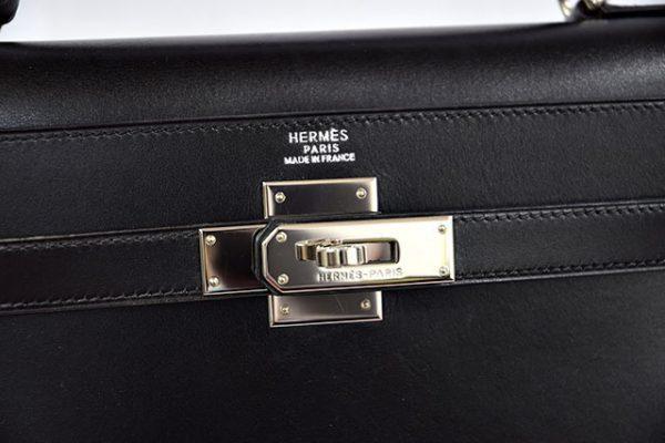 エルメス ケリー32 ボックスカーフ 黒