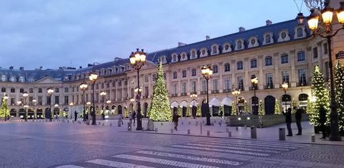 ヴァンドーム広場 クリスマス