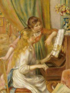 ルノワール オルセー美術館 ピアノを弾く少女達