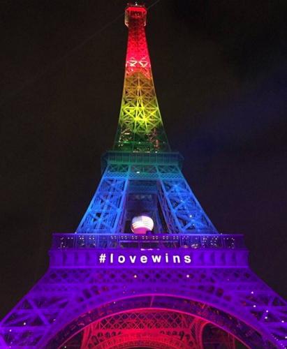 エッフェル塔 オーランド追悼 #lovewins