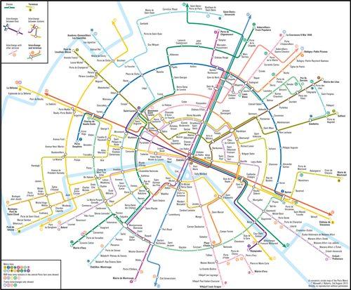 パリ メトロマップ